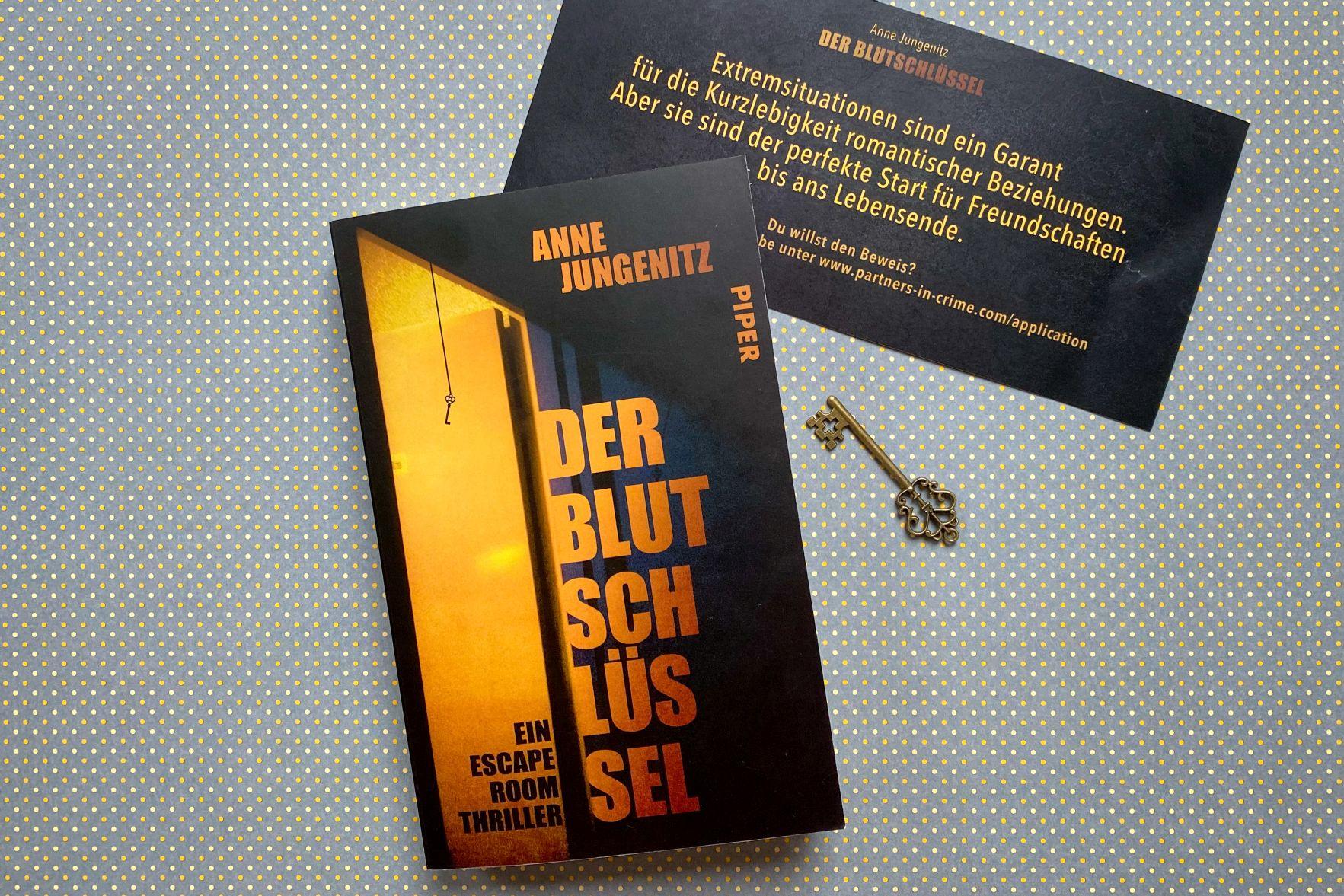 Anne Jungenitz Der Blutschlüssel Escape Room Thriller Los Angeles
